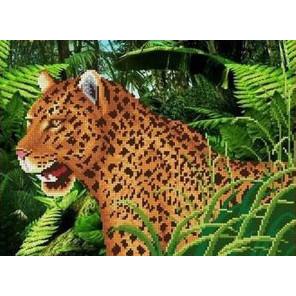 Леопард Канва с рисунком для вышивки бисером