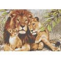 Львы Канва с рисунком для вышивки бисером