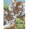 Тигры Канва с рисунком для вышивки бисером