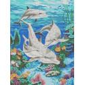 Морская идиллия Канва с рисунком для вышивки бисером