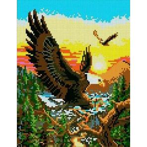 Полет орла Канва с рисунком для вышивки бисером