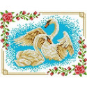 Лебеди Канва с рисунком для вышивки бисером