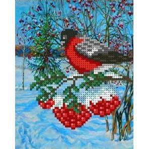 Снегирь Канва с рисунком для вышивки бисером