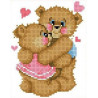 Влюбленные медвежата Канва с рисунком для вышивки бисером
