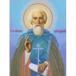 Святой Сергей Радонежский Канва с рисунком для вышивки бисером