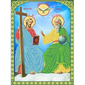 Новозаветная Троица Канва с рисунком для вышивки бисером