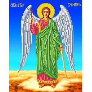 Ангел Хранитель Канва с рисунком для вышивки бисером