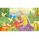 Богородица и голуби Канва с рисунком для вышивки бисером