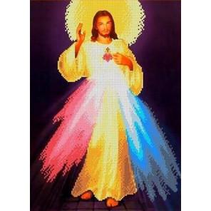 Святейшее сердце Иисуса Канва с рисунком для вышивки бисером