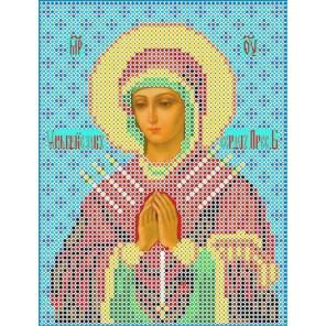 Богородица Умягчение злых сердец Канва с рисунком для вышивки бисером