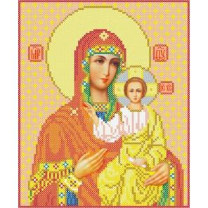 Богородица Смоленская Канва с рисунком для вышивки бисером