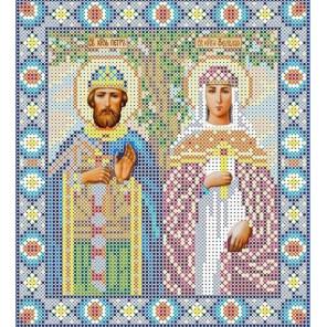 Святые Петр и Феврония Канва с рисунком для вышивки бисером