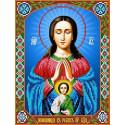 Богородица Помощница в родах Канва с рисунком для вышивки бисером