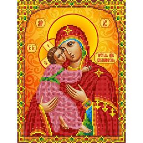 Богородица Владимирская Канва с рисунком для вышивки бисером