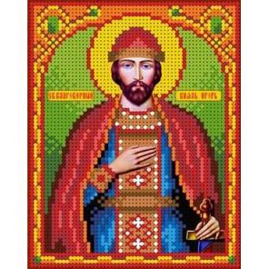 Святой Игорь Канва с рисунком для вышивки бисером