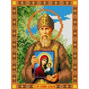 Святой Серафим Канва с рисунком для вышивки бисером