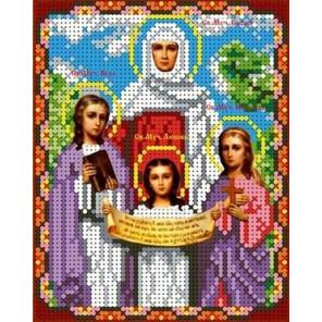 Святые Вера, Надежда, Любовь Канва с рисунком для вышивки бисером