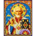 Святой Николай Чудотворец Канва с рисунком для вышивки бисером