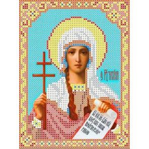 Святая Татьяна Канва с рисунком для вышивки бисером