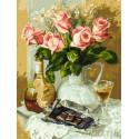 Розы и шоколад Раскраска картина по номерам на холсте