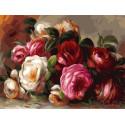 Розы Ренуара Раскраска картина по номерам на холсте