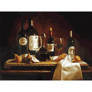 Вино и груши Раскраска картина по номерам на холсте 317-AS