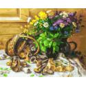 Букет и грибы Раскраска картина по номерам на холсте 226-AB