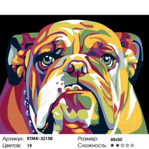 Количество цветов и сложность Добряк Раскраска картина по номерам на холсте KTMK-32158