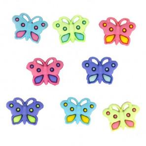 Бабочки разноцветные Пуговицы декоративные Jesse James & Co