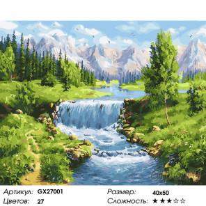 Количество цветов и сложность Летний пейзаж Раскраска картина по номерам на холсте GX27001