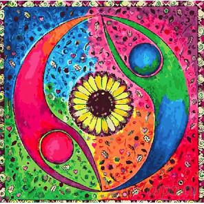 Количество цветов и сложность Узоры мандала Раскраска картина по номерам на холсте FX4125