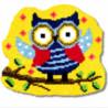 Совушка Набор для вышивания коврика