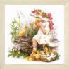 3 (2) Девочка с утятами Набор для вышивания Риолис