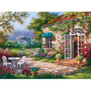 Летний дворик Алмазная вышивка мозаика Алмазная живопись АЖ-0068