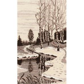 Весна триптих №3 Набор для вышивания Овен 505