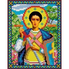 Святой Дмитрий Канва с рисунком для вышивки бисером