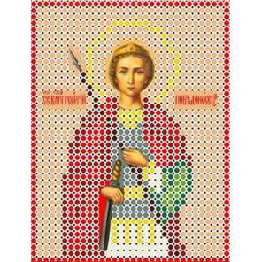 Святой Георгий Канва с рисунком для вышивки бисером