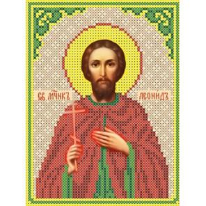 Святой Леонид Канва с рисунком для вышивки бисером