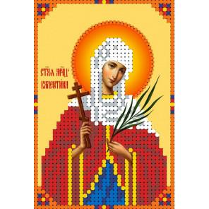 Святая Валентина Канва с рисунком для вышивки бисером