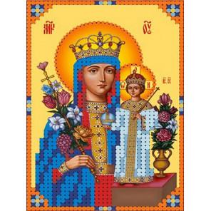Богородица неувядаемый цвет Канва с рисунком для вышивки бисером