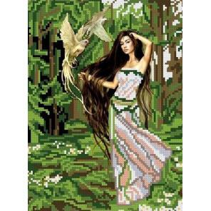 Лесная фея Канва с рисунком для вышивки бисером