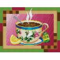 Чашка чая Канва с рисунком для вышивки бисером