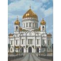 Храм Христа Спасителя Канва с рисунком для вышивки бисером