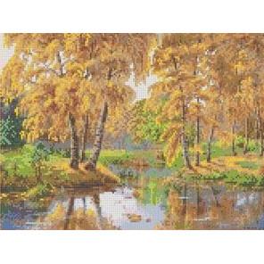 Осень в отражении Канва с рисунком для вышивки бисером