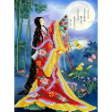 Японские мотивы Канва с рисунком для вышивки бисером