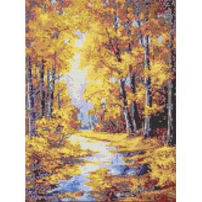 Осенние краски Канва с рисунком для вышивки бисером