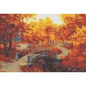 Осенний парк Канва с рисунком для вышивки бисером