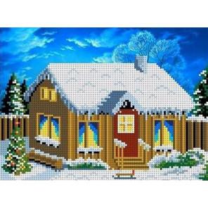 В деревне. Зимой Канва с рисунком для вышивки бисером