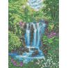 Водопад Канва с рисунком для вышивки бисером