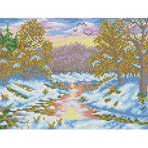 Первый снег Канва с рисунком для вышивки бисером